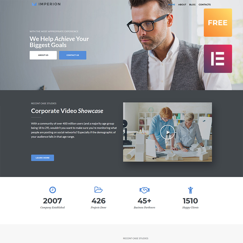Imperion Free - Multipurpose Corporate Elementor WordPress Theme