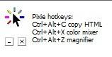 сочетание клавишей программы pixie