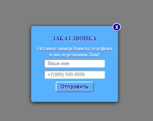 окно кнопки обратный звонок