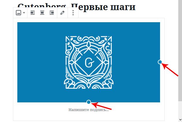Как в Gutenberg добавлять изображения
