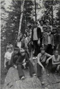 """Пионерский лагерь """"Жемчужина"""" 1977 год. После """"Зарницы"""", уставшие , но довольные"""