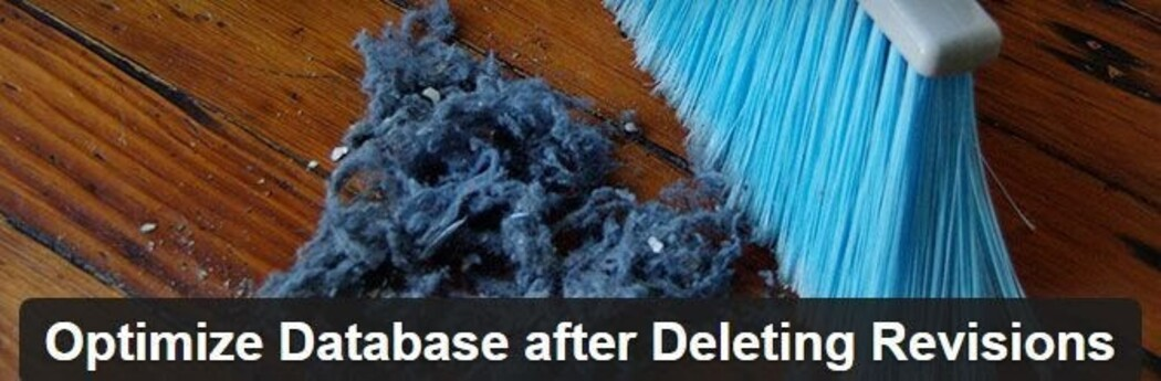 Optimize Database after Deleting Revisions - WordPress database optimization plugin.