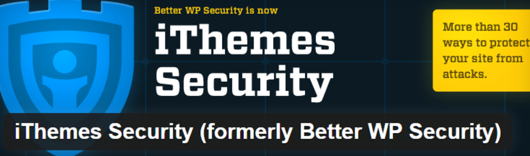 iThemes Security - A security plugin for WordPress.
